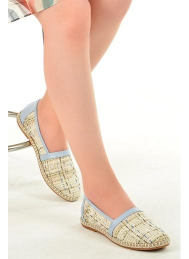 Ayakland Ayakland 139-40 Günlük Anatomik Bayan Babet Ayakkabı Mavi